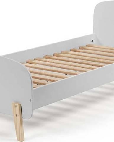Šedá dětská postel Vipack Kiddy, 200 x 90 cm