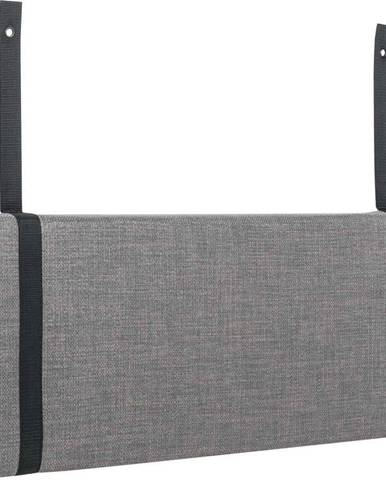 Šedý podhlavník k posteli Vox Concept, 84cm