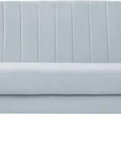 Světle modrá sametová pohovka Mazzini Sofas Sardaigne, 188 cm