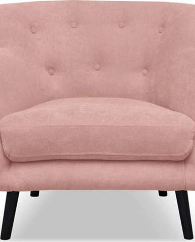Světle růžové křeslo Cosmopolitan design Hampstead