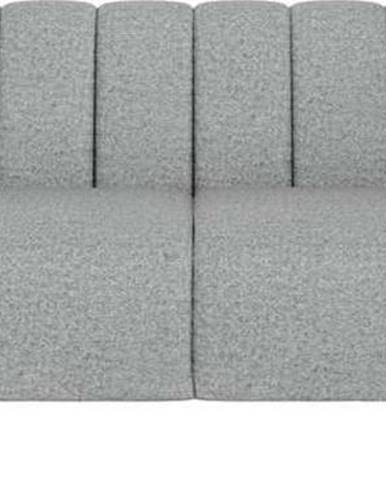 Světle šedá pohovka Ghado Shel, 210 cm