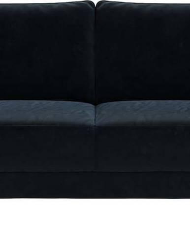 Tmavě modrá sametová pohovka Ghado Fynn, 168 cm
