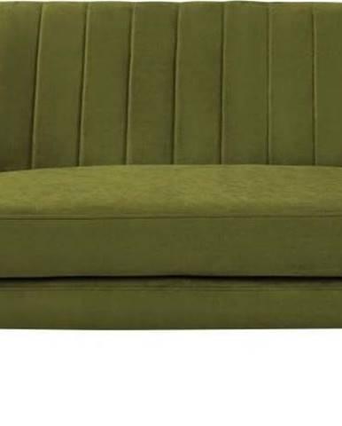 Zelená sametová pohovka Mazzini Sofas Sardaigne, 158 cm