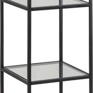 Černý regál Actona Seaford, 35 x 119,5 cm