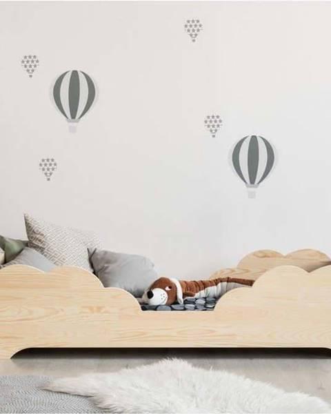 Adeko Dětská postel z borovicového dřeva Adeko BOX 10, 70x140 cm