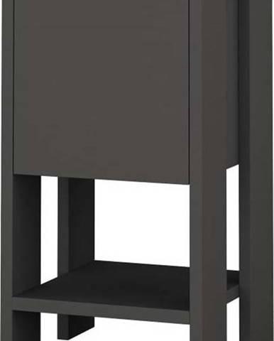 Antracitově šedý noční stolek Ema