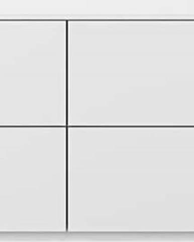 Bílá komoda s šuplíky TemaHome Join, 120 x 54 cm