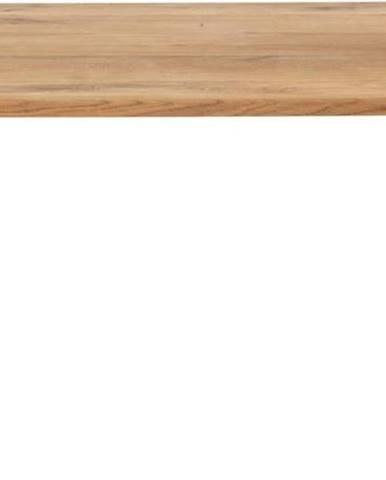 Černý konferenční stolek s deskou z dubového dřeva House Nordic Lugano, 90 x 90 cm