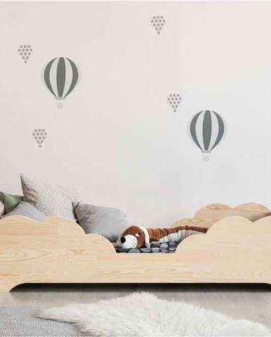 Dětská postel z borovicového dřeva Adeko BOX 10, 70x140 cm