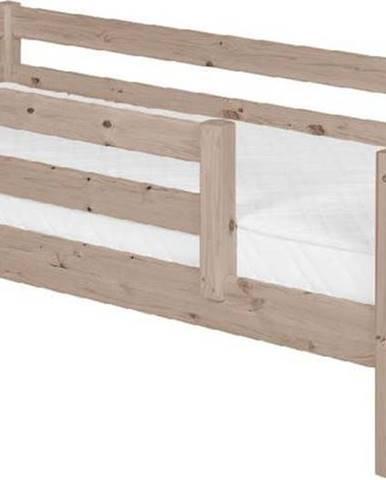 Hnědá dětská postel z borovicového dřeva s 3/4 lištami Flexa Classic, 90x200cm