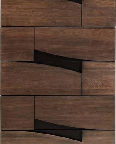 Komoda v dekoru ořechového dřeva La Forma Cutt