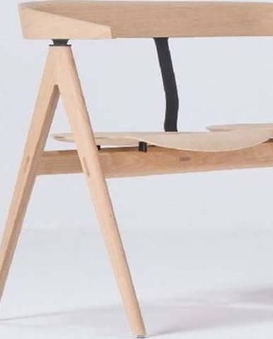 Přírodní lavice z dubového dřeva Gazzda Ava