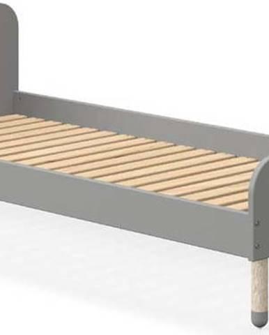 Šedá dětská postel Flexa Dots, 90 x 200 cm