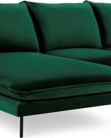 Zelená sametová rohová pohovka Cosmopolitan Design Vienna, levý roh