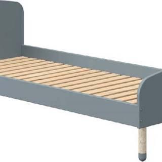 Modrá dětská postel Flexa Dots, 90 x 200 cm