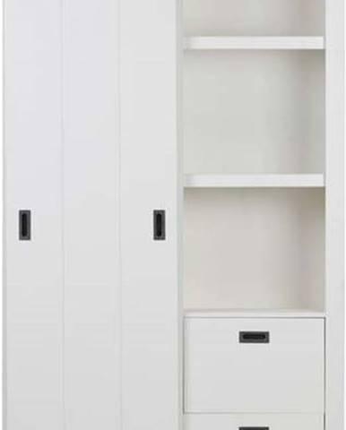 Bílá skříň s posuvnými dveřmi vtwonen Slide