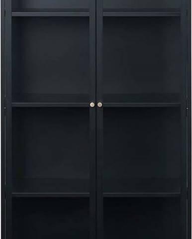 Černá vitrína Unique Furniture Carmel,výška190cm