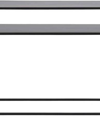 Černý konzolový stolek s železnými nohami Actona Newcastle