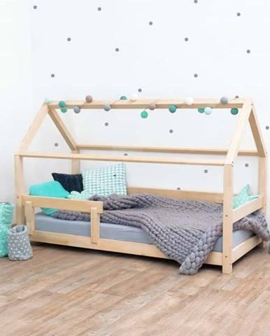 Dětská postel s bočnicí ze smrkového dřeva Benlemi Tery, 90 x 200 cm