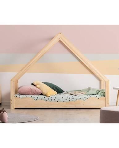 Domečková dětská postel z borovicového dřeva Adeko Loca Dork,70x160cm