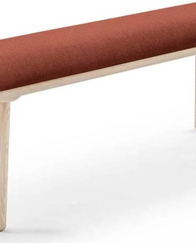 Koňakově hnědá lavice EMKO Naïve,140cm