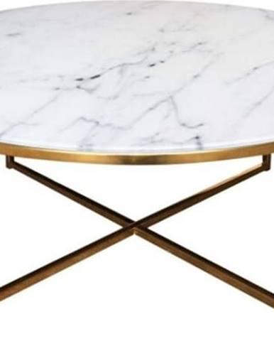 Konferenční stolek Actona Alisma Golden, ⌀ 80 cm