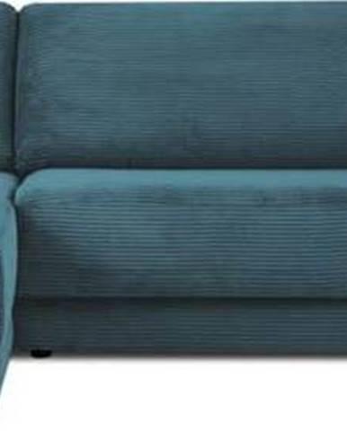 Modrá manšestrová rozkládací rohová pohovka Milo Casa Donatella, levý roh