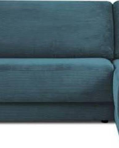 Modrá manšestrová rozkládací rohová pohovka Milo Casa Donatella, pravý roh