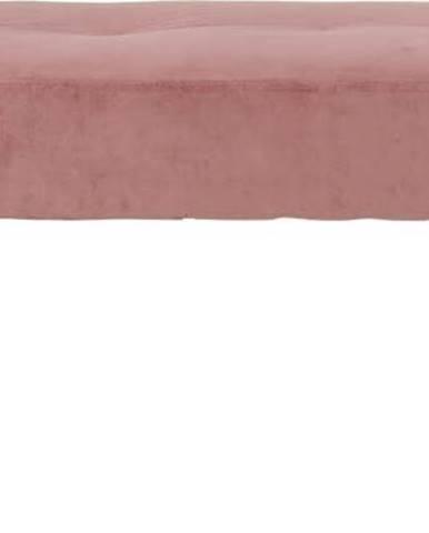 Růžová polstrovaná lavice se sametovým potahem House Nordic Skiby, 100x35cm