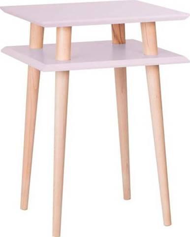 Růžový odkládací stolek Ragaba Square, 43x43cm
