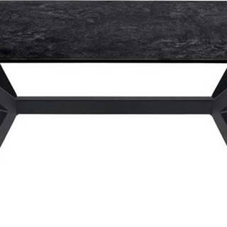 Černý konferenční stolek se skleněnou deskou Actona Laxey
