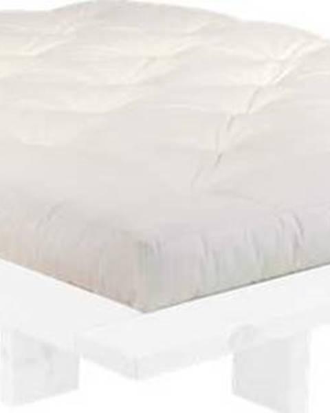 Karup Design Dvoulůžková postel z borovicového dřeva s matrací Karup Design Japan Comfort Mat White/Natural, 160 x 200 cm
