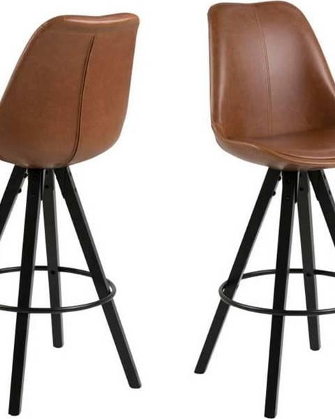 Actona Sada 2 hnědých barových židlí Actona Damia