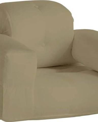 Béžové rozkládací křesílko vhodné do exteriéru Karup Design Design OUT™ Hippo Beige