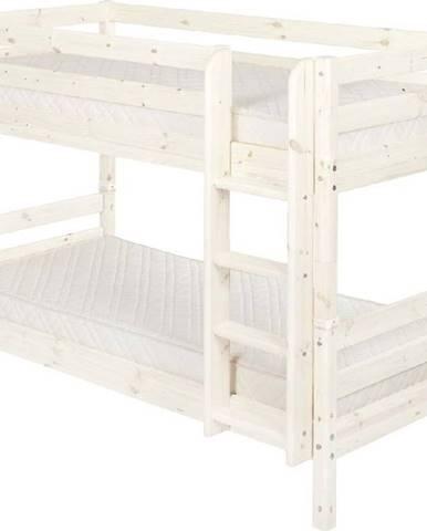 Bílá dětská palanda z borovicového dřeva Flexa Classic, 90x200cm
