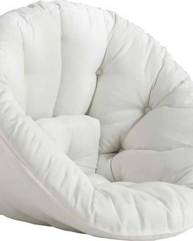 Bílé rozkládací křesílko vhodné do exteriéru Karup Design Design OUT™ Nido White