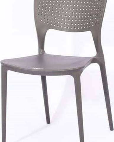 Šedá zahradní židle Le Bonom Wendy