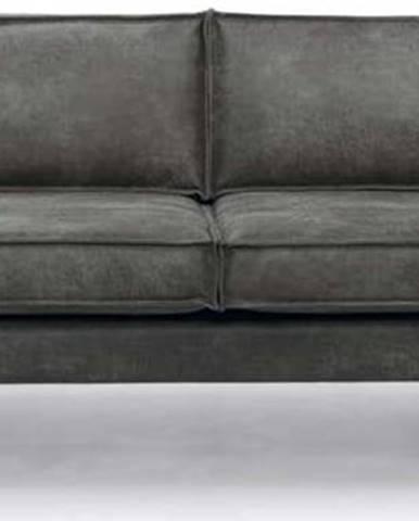 Tmavě šedá pohovka z imitace kůže Scandic Rate