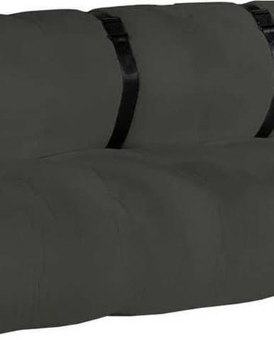 Tmavě šedá rozkládací pohovka vhodná doexteriéru Karup Design Design OUT™ Buckle Up Dark Grey