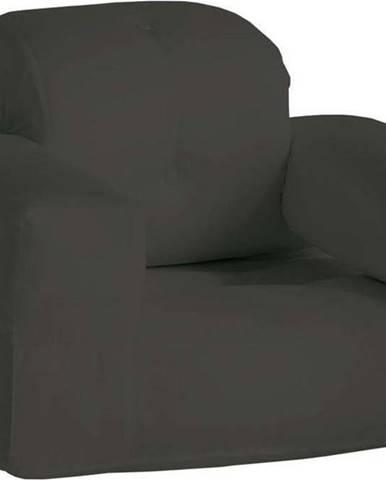 Tmavě šedé rozkládací křesílko vhodné do exteriéru Karup Design Design OUT™ Hippo Dark Grey