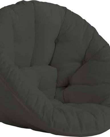 Tmavě šedé rozkládací křesílko vhodné do exteriéru Karup Design Design OUT™ Nido Dark Grey