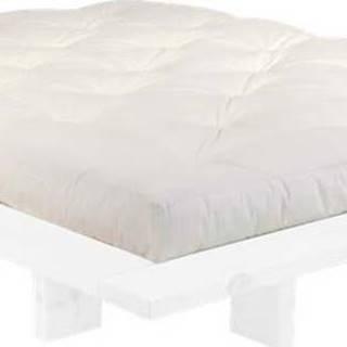 Dvoulůžková postel z borovicového dřeva s matrací Karup Design Japan Comfort Mat White/Natural, 160 x 200 cm