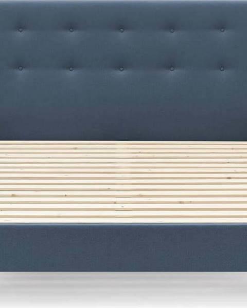 Bobochic Paris Modrá dvoulůžková postel Bobochic Paris Rory Light. 160 x 200 cm
