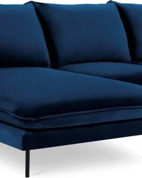 Cosmopolitan design Modrá sametová rohová pohovka Cosmopolitan Design Vienna, levý roh