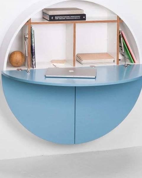 Emko Modro-bílý multifunkční nástěnný stůl EMKO Pill