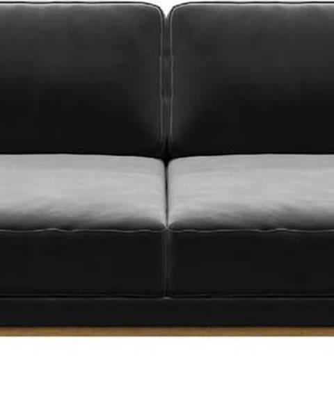 MESONICA Tmavě šedá sametová pohovka MESONICA Musso, 173 cm