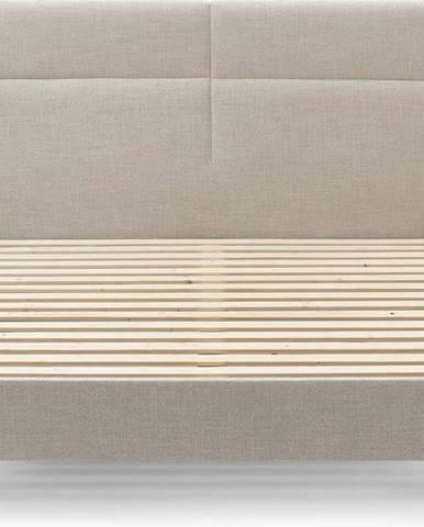 Béžová dvoulůžková postel Bobochic Paris Elyna Dark, 160 x 200 cm
