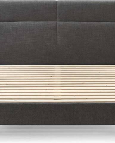 Černá dvoulůžková postel Bobochic Paris Elyna Light, 180 x 200 cm
