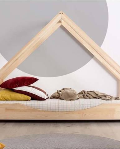 Domečková dětská postel z borovicového dřeva Adeko Loca Elin,80x200cm