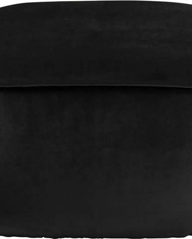 Hnědošedý sametový puf Actona Mie, 60x60 cm